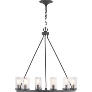 Progress Lighting-Hartwell 12-Light Graphite Chandelier with Antique Nickel Accents for Sale in Dallas, TX