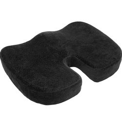 New Aurora Health & Beauty Black Memory Foam Coccyx Cushion Orthopedically Designed for Back Tailbone & Sciatica Pain Relief for Sale in Hacienda Heights,  CA