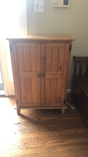 Wood bar cabinet for Sale in Clifton, VA