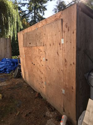 Shed 8' x 3' x 6' high for Sale in Seattle, WA