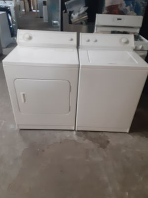 Washer and dryer whirlpool electric dryer good condition 3 months warranty delivery and install for Sale in Oakland, CA