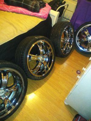 "20"" chrome rims, five spoke no cracks no dents for Sale in Houston, TX"