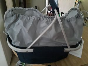 Insulated picnic basket with handles for Sale in Palm Bay, FL