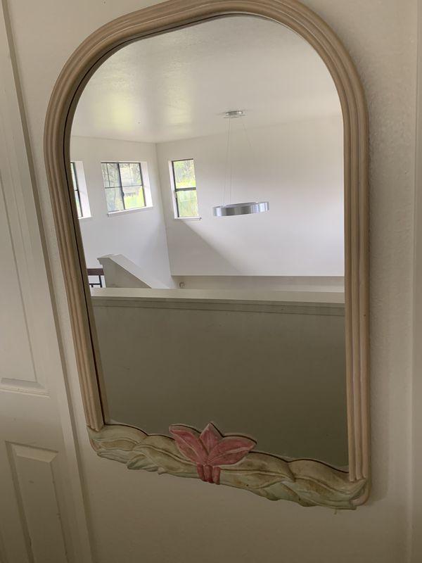 Tropical design wall mirror