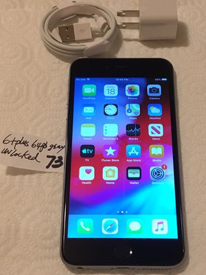 Apple iPhone 6+Plus,64 GB,A1522,Unlocked any carrier. Gray/Black,Clean imei,CleaniCloud,FullyFunctional,Mint conditions. for Sale in San Leandro, CA