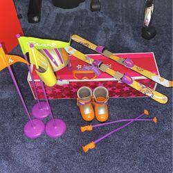 American Girl Doll Ski Set for Sale in Sutton,  MA