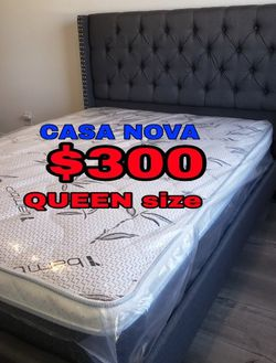 BRAND NEW BED FRAME QUEEN COMES IN BOX 📢📦MATTRESS INCLUDED 📢✨😴SAME DAY DELIVER OR PICK UP 📢😴📢 for Sale in Carson,  CA