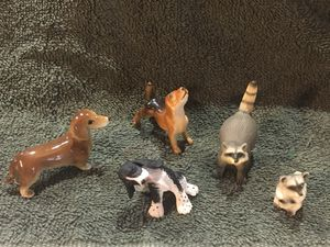 Dollhouse miniatures 1:12 animals. Three dogs two raccoons for Sale in Poland, IN