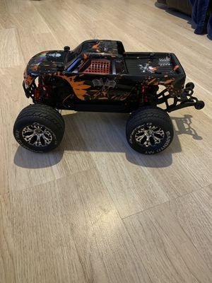 Traxxas 1/10-scale Stampede 4X4 TQ 2.4GHz SUPER UPGRADES 85MPH. Condition is Used. for Sale in Amarillo, TX