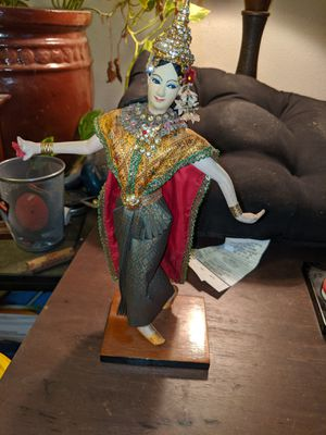 Vintage Handmade doll from Thailand 12 inches tall for Sale in White City, OR