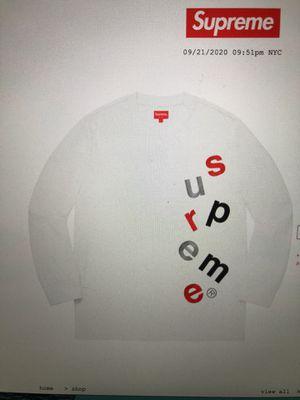 Supreme Scatter Logo L/S Top White Size M for Sale in Springfield, VA