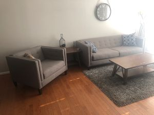 Modern Sofa and Arm Chair for Sale in Springfield, VA