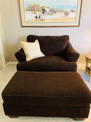 Ashley chair &½ with large ottoman for Sale in Palm Desert, CA