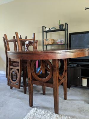 "Full Wooden Dining Table Set (48"" table + 4 chairs) for Sale in San Francisco, CA"