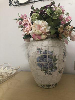 Large Mosaic Flower Painted Vase for Sale in Manassas Park, VA