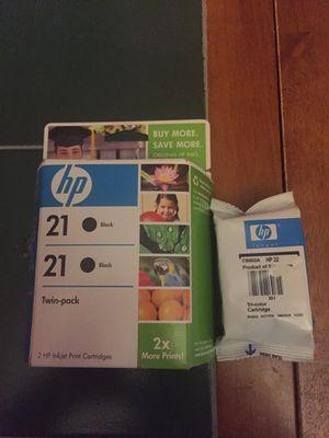 Hp printer cartridges 21/22 for Sale in Dothan, AL