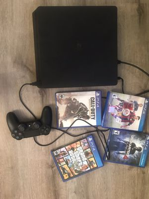 PS4 with Controller and 4 games for Sale in Upland, CA