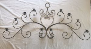 Large wall-mounted candelabra candle holder, vintage for Sale in Chuluota, FL
