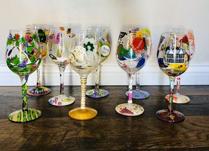 LOLITA collectible wine glasses - misc. ($15-$35) for Sale in OH, US