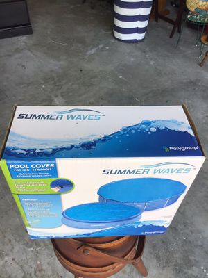 SUMMER WAVES POOL COVER FOR 12 to 14 fats for Sale in Jacksonville, FL