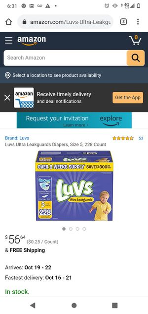 228 size 5 luvs plus 288 ct huggies sensitive wipes for Sale in Biscayne Park, FL