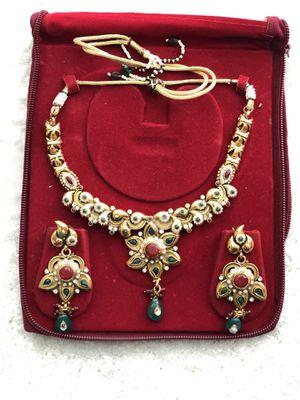 Beautiful Rajasthani costume jewelry set for Sale in Clarksburg, MD
