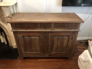 Reclaimed wood. Rustic console / cabinet/ tv stand table. (Originally $1200) for Sale in New York, NY