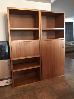 Large Wooden Bookshelves/Cabinets Storage Shelves for Sale in Phoenix, AZ