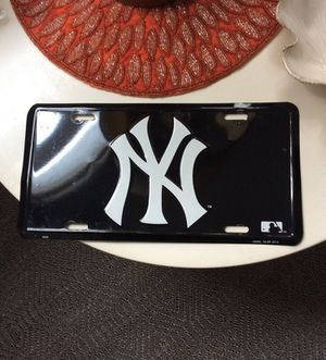 New York Yankees metal license plate for Sale for sale  Weehawken, NJ