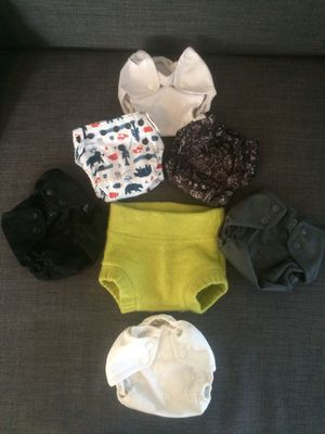 Lot of 7 newborn cloth diapers for Sale in Fort Worth, TX