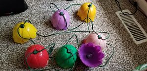 Plastic Flower Patio, RV String Light Decoration for Sale in Belleville, MI