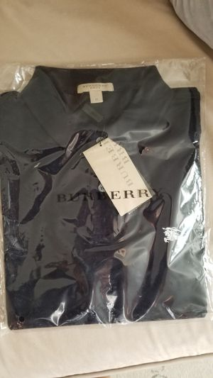Burberry Men Polo Size M , Dark Navy Blue for Sale in Morrisville, NC