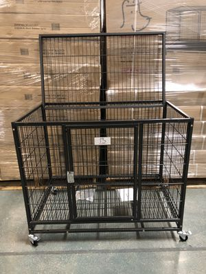 Brand new HD dog kennel cage crate with wheels secured Chrome latch🦾see dimensions in second picture🇺🇸 if you need plastic tray Add $29 extra🐕 for Sale in Las Vegas, NV