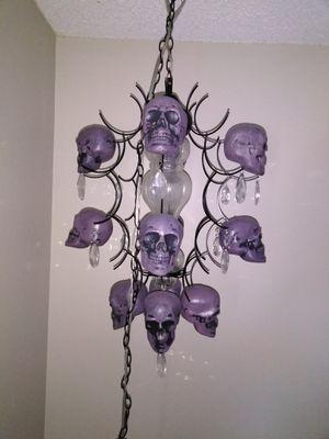 Hand made skull chandelier for Sale in Denver, CO