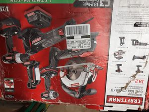 Crafstman 6pc.19.2v c3 cordless power tool kit with lithium ion technology-new for Sale in Bonney Lake, WA