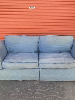 Blue Denim-lined Couch FREE DELIVERY for Sale in Austin,  TX