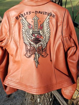 Womens Harley-Davidson Leather Jacket for Sale in Soperton, GA