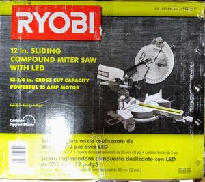 RYOBI 12 in. Sliding Miter Saw with LED for Sale in Dallas, GA