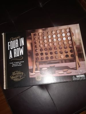 New Wooden 4 in a Row Game for Sale in Pasadena, TX