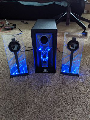 GoGroove Bass Pulse Blue LED Speakers with Subwoofer for Sale in Rolling Meadows, IL
