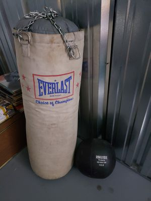 Punching bag & Medicine Ball for Sale in Quincy, MA