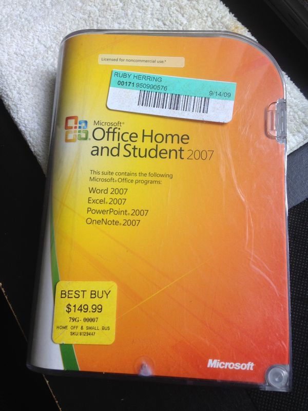 Microsoft office 2007 license with CD