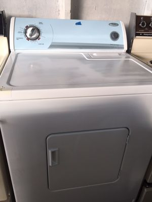 Whirlpool white dryer in excellent condition plus 6 months warranty for Sale in Pompano Beach, FL