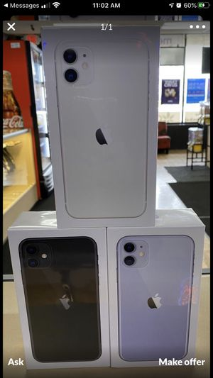 Check out this iPhone 11 brand new in box for boost mobile,price includes phone first month of service and activation fee! This is only for new or po for Sale in Bolingbrook, IL