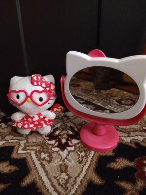 Hello Kitty Mirror and TY BEANIE for Sale in Murfreesboro, TN
