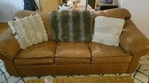Leather Couch and Love Seat for Sale in White Plains, NY
