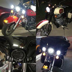 HEADLIGHT KIT FOR HARLEY DAVISON/DOT 7″ Round LED Headlight DRL Hi/Lo Beam+Pair 4.5″ Fog Pass Driving Lamps With Headlight Bracket Ring for Sale in Ontario, CA