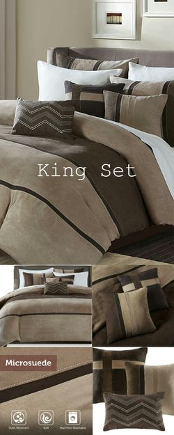Brand New in Packaging Madison Park 6 PC King/Cal King Microsuede Duvet Cover Set for Sale in Boca Raton,  FL