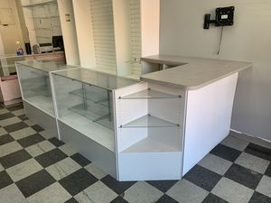 display cabinet with glass shelves for Sale in Everett, MA