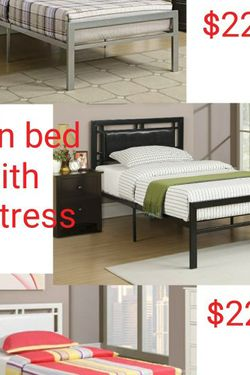 Twin Bed With Mattress for Sale in Las Vegas,  NV